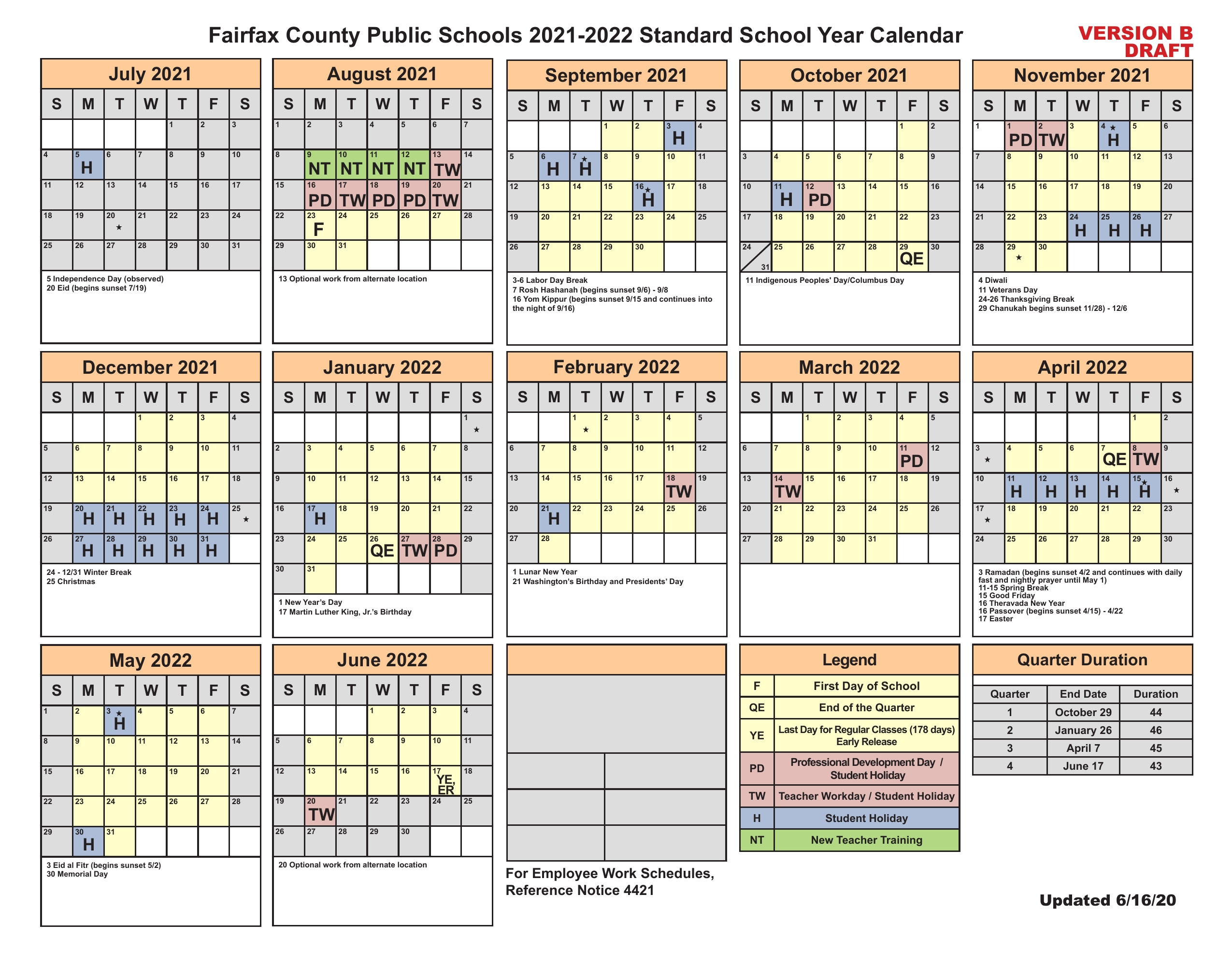 Christian County School Calendar 2021-22 Fairfax County School Board to add Jewish, Hindu, Muslim holidays